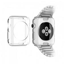Бампер силиконовый для Apple Watch 38мм (прозрачный)