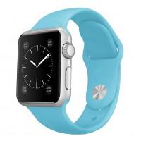 Силиконовый ремешок для Apple Watch 38/40mm (Light Blue)