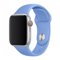 Силиконовый ремешок для Apple Watch 38/40mm (Azure Blue)