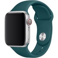 Силиконовый ремешок для Apple Watch 42/44mm (Forest Green)