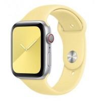 Силиконовый ремешок COTEetCI для Apple Watch 42/44mm (Milk Yellow)