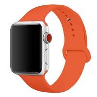Силиконовый ремешок для Apple Watch 42/44mm (Orange)