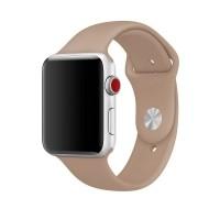Силиконовый ремешок для Apple Watch 42/44mm (Walnut)