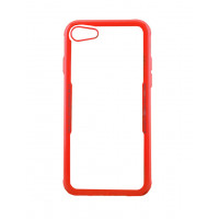 Бампер стеклянный для iPhone 7/8 cs0002 (красный)