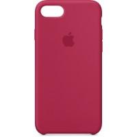 Накладка Silicone Case для iPhone 7/8 (Rose Red)