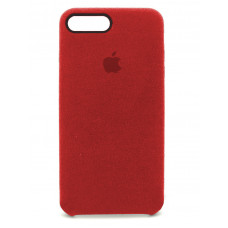 Накладка Alcantara Cover для iPhone 7/8 Plus (Red)