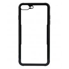 Бампер стеклянный для iPhone 7/8 Plus cs0002 (черный)