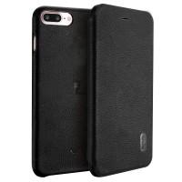 Чехол-книга LENUO для iPhone 7/8 Plus (черный)