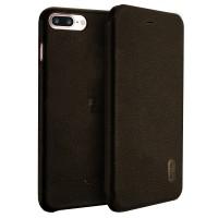 Чехол-книга LENUO для iPhone 7/8 Plus (коричневый)