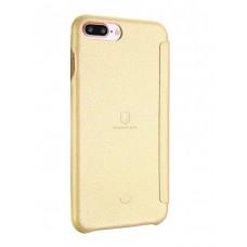 Чехол-книга LENUO для iPhone 7/8 Plus (золото)
