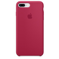 Накладка Silicone Case для iPhone 7/8 Plus (Rose Red)