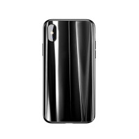 Бампер Baseus Glass sparking case для iPhone X (Черный)