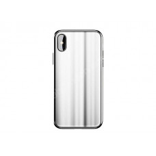 Бампер Baseus Glass sparking case для iPhone X (Белый)