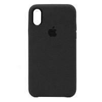 Накладка Alcantara Cover для iPhone Xs Max (Black)