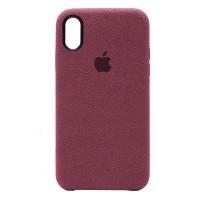 Накладка Alcantara Cover для iPhone Xs Max (Camellia)