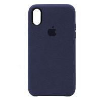 Накладка Alcantara Cover для iPhone Xs (Midnight Blue)