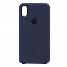 Накладка Alcantara Cover для iPhone Xr (Midnight Blue)