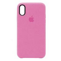 Накладка Alcantara Cover для iPhone Xr (Pink)