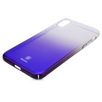 Чехол Baseus Glaze Case для iPhone X (Фиолетовый градиент)