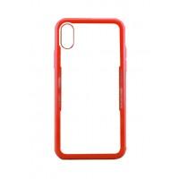 Бампер стеклянный для iPhone X cs0002 (красный)