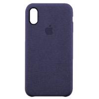 Накладка текстильная для iPhone X (синий)