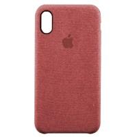 Накладка текстильная для iPhone X (красный)