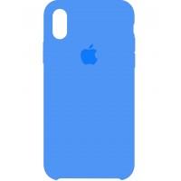 Накладка Silicone Case для iPhone X (Blue)