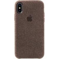 Накладка текстильная для iPhone X (серый)