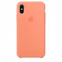 Накладка Silicone Case для iPhone X (Peach)