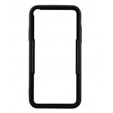 Бампер стеклянный для iPhone XR cs0002 (черный)
