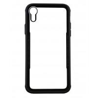 Бампер стеклянный для iPhone XR cs0003 (черный)