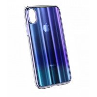 Чехол Baseus Aurora Case для iPhone Xs Max WIAPIPH65-JG03 (Синий градиент)