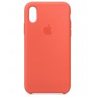 Накладка Silicone Case для iPhone Xs (Nectarine)