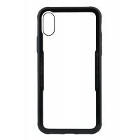 Бампер стеклянный для iPhone X cs0002 (черный)