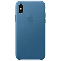 Накладка Leather Case для iPhone Xs (Cape Cod Blue)