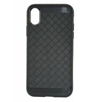 Силиконовый чехол для iPhone Xs TPU-0001 (Черный)