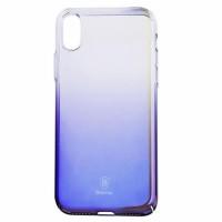Чехол Baseus для iPhone Xr Glow (синий)