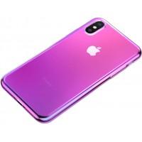 Чехол Baseus для iPhone X/Xs Glow (розовый)