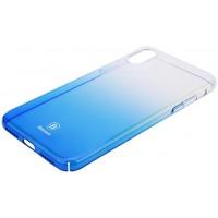 Чехол Baseus для iPhone X/Xs Glow (синий)