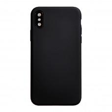 Бампер силиконовый для iPhone X/Xs (черный)