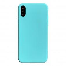 Бампер силиконовый для iPhone X/Xs (бирюзовый)