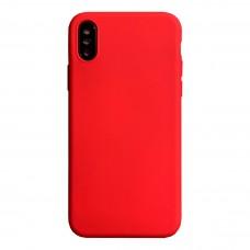 Бампер силиконовый для iPhone X/Xs (красный)