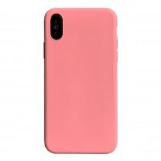 Бампер силиконовый для iPhone X/Xs (розовый)