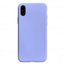 Бампер силиконовый для iPhone X/Xs (фиолетовый)
