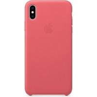 Накладка Leather Case для iPhone Xs Max(Peony Pink)