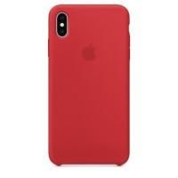 Накладка Silicone Case для iPhone Xs (Red)