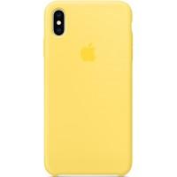 Накладка Silicone Case для iPhone Xs Max (Canary Yellow)