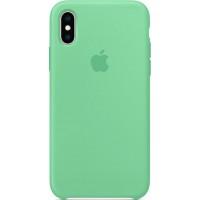 Накладка Silicone Case для iPhone Xs (Spearmint)