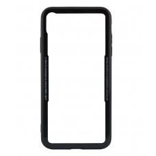 Бампер стеклянный для iPhone Xs Max cs0002 (Черный)
