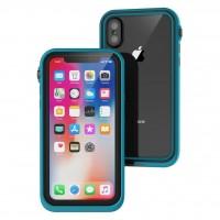 Противоударный чехол Waterproof для iPhone Xs Max (Бирюзовый)